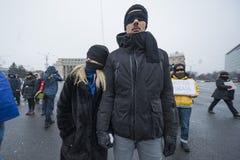 STULEN RÄTTVISA - internationell protest Royaltyfri Fotografi