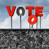 Stulit rösta Arkivfoto