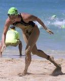 Stumbling. Event: 2012 Waikiki Roughwater Swim, 03.IX.12 Royalty Free Stock Photo