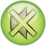 Stumme grüne Taste lizenzfreies stockbild