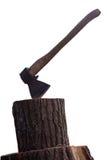 Stump with axe Stock Photo
