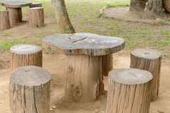Stump chair Royalty Free Stock Photography