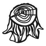 Stump icon, simple style stock illustration