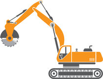Stump and Stone Cutter Excavator Vector Stock Photography