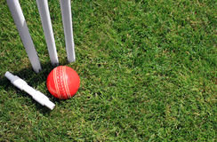 Stumps, Bail and Ball Stock Photography