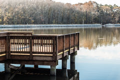 Stumpy Lake Fishing Pier in Virginia Beach Royalty Free Stock Photography