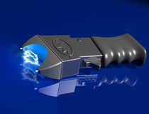 Stun gun on shiny surface Stock Photo