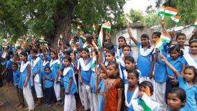 Stundant indisk skola Arkivbilder