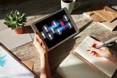 Stunde, Personalmanagement, Teamwork, Einstellungskonzept auf Gerätschirm stockfotografie