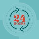 24 Stunden stock abbildung