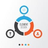 Stunden-Ikonen eingestellt Sammlung von Team Structure, Manager, Turnier und andere Elemente Schließt auch Symbole wie Preis ein Lizenzfreie Stockfotos