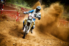 24 STUNDEN MOTOCROSS-AUSDAUER-RENNEN- Stockbilder