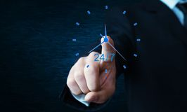24 Stunden Service Lizenzfreie Stockfotografie