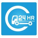 24 Stunden Service lizenzfreie abbildung