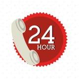 24 Stunden Service-Design Lizenzfreies Stockbild