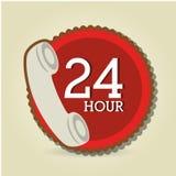 24 Stunden Service-Design Lizenzfreie Stockfotos