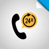 24 Stunden Service-Design Stockbilder