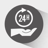 24 Stunden Service-Design Stockfotografie