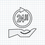 24 Stunden Service-Design Lizenzfreie Stockbilder