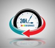 24 Stunden Service-Fahne Lizenzfreie Stockbilder