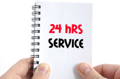 24 Stunden Service-Textkonzept Lizenzfreies Stockfoto