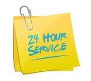24 Stundenservice-Beitragsillustrationsdesign Lizenzfreie Stockbilder