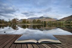 Stuning Autumn Fall landscape image of Lake Buttermere in Lake D Stock Images