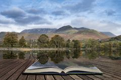 Stuning Autumn Fall landscape image of Lake Buttermere in Lake D Stock Photos