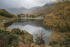 Stuning Autumn Fall landscape image of Lake Buttermere in Lake D. Beautiful Autumn Fall landscape image of Lake Buttermere in Lake District England stock photos