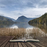 Stuning Autumn Fall landscape image of Lake Buttermere in Lake D Royalty Free Stock Photo