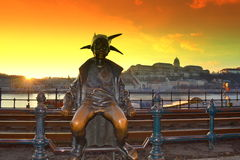 Stuning Budapest sunset view Royalty Free Stock Images