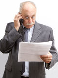Stunned Businessman Royalty Free Stock Image