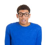 Stunned nerd man Royalty Free Stock Images