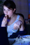 Stunned woman and laptop Stock Photography