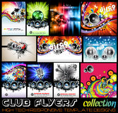 Stunnig Disco Club Flyers collecton Stock Photography