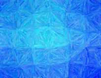 Stunning abstract illustration of blue Impasto with long brush strokes paint. Good background for your work. stock photo