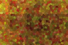 Stunning abstract illustration of brown and red bright Small hexagon. Lovely background for your design. Stunning abstract illustration of brown and red bright royalty free illustration