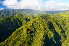 Stunning aerial view of spectacular jungles, Kauai Royalty Free Stock Image