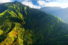 Stunning aerial view of spectacular jungles, Kauai Stock Photography