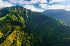 Stunning aerial view of spectacular jungles, Kauai Royalty Free Stock Photography