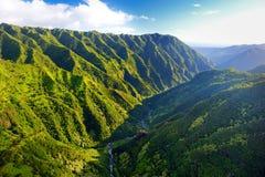 Stunning aerial view of spectacular jungles, Kauai. Hawaii royalty free stock photography