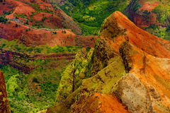 Stunning aerial view into Waimea Canyon Royalty Free Stock Image