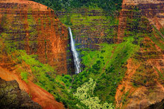 Stunning aerial view into Waimea Canyon. Kauai, Hawaii Stock Photography