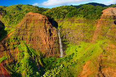 Stunning aerial view into Waimea Canyon, Kauai Royalty Free Stock Images