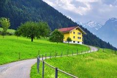 Stunning alpine landscape in canton Uri, Switzerland royalty free stock photo