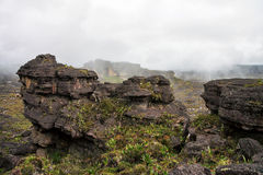 Stunning another planet looking like rocky terrain of mount Roraima Royalty Free Stock Images