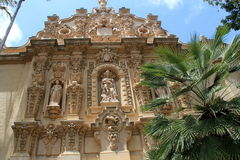 Stunning architecture in one of many buildings, Balboa Park, San Diego, California, 2016 Royalty Free Stock Photography
