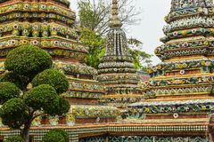 The stunning architecture of Wat Pho in Bangkok Royalty Free Stock Photos