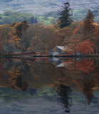 Stunning Autumn Fall color landscape of Lake District in Cumbria Royalty Free Stock Images