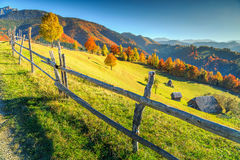 Stunning autumn rural landscape near Bran,Transylvania,Romania,Europe Royalty Free Stock Images